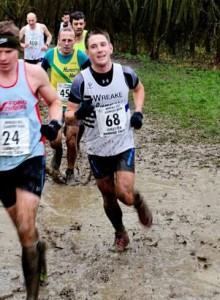 Dave enjoying a muddy race